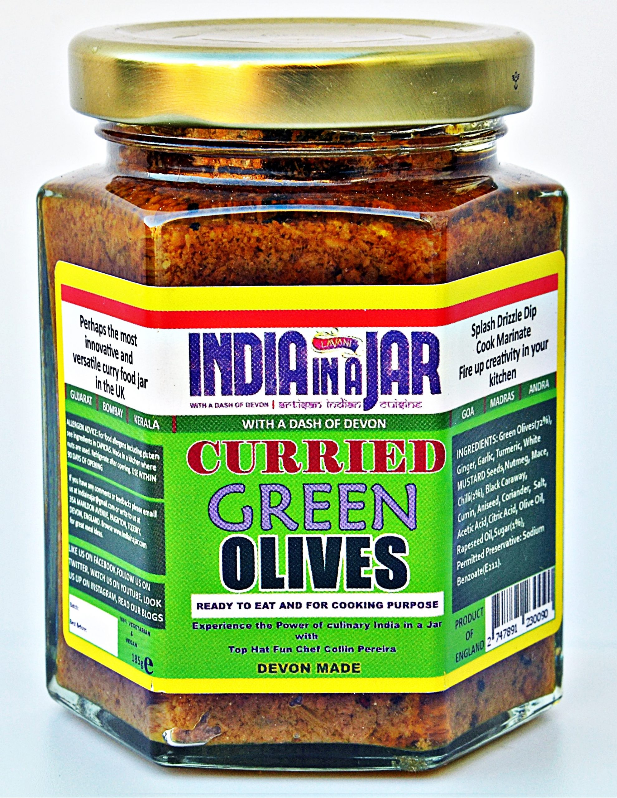Curried Green Olives by India in a Jar - Curried Olives Pickle ...